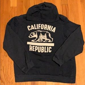 Navy blue California republic hoodie